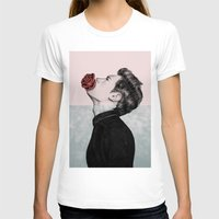 mouth T-shirts featuring Mouth Flower by Sofia Azevedo