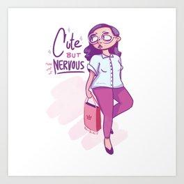Cute But Nervous Art Print