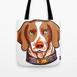 Brittany Dog Puppy Doggie Present Cartoon Tote Bag