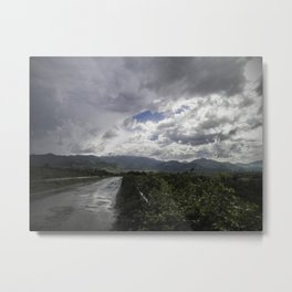 After the storm II - on the road Metal Print