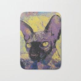 Sphynx Cat Painting Bath Mat