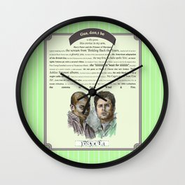 Gus, don't be - Psych Quotes Wall Clock