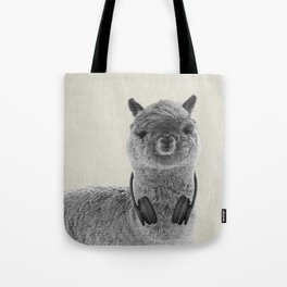 Portrait of Alpaca Tote Bag