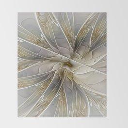 Precious, Fractal Art Throw Blanket