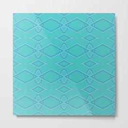 Abstract Teal Pattern  Metal Print