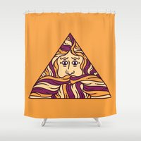 triangle Shower Curtains featuring Triangle by Brad Hansen