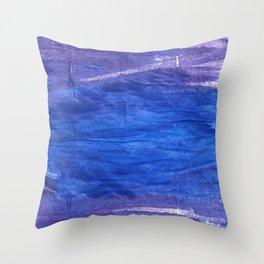 Cerulean blue Throw Pillow