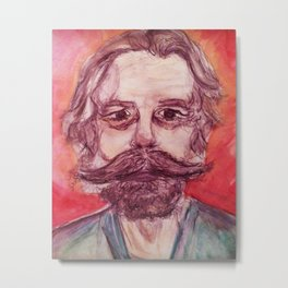 Bob Weir Watercolor Portrait Grateful Dead Metal Print