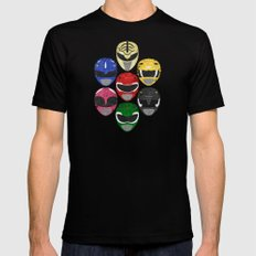 Mighty Morphin Power Rangers Mens Fitted Tee 2X-LARGE Black