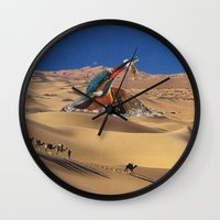 oasis Wall Clocks featuring Oasis by Lerson