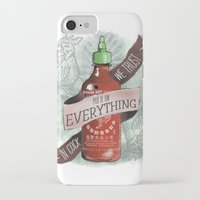 sriracha iPhone & iPod Cases featuring An Ode To Sriracha by Drunk Girl Designs