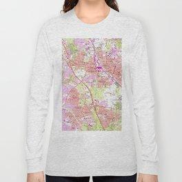 Vintage Map of Rockville Maryland (1965) Long Sleeve T-shirt