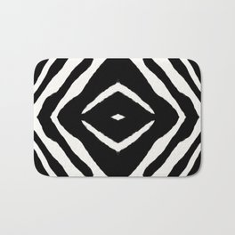 Black Ink Medallion by Juul Bath Mat