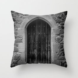 A Doorway Awaits at Leeds Castle Throw Pillow