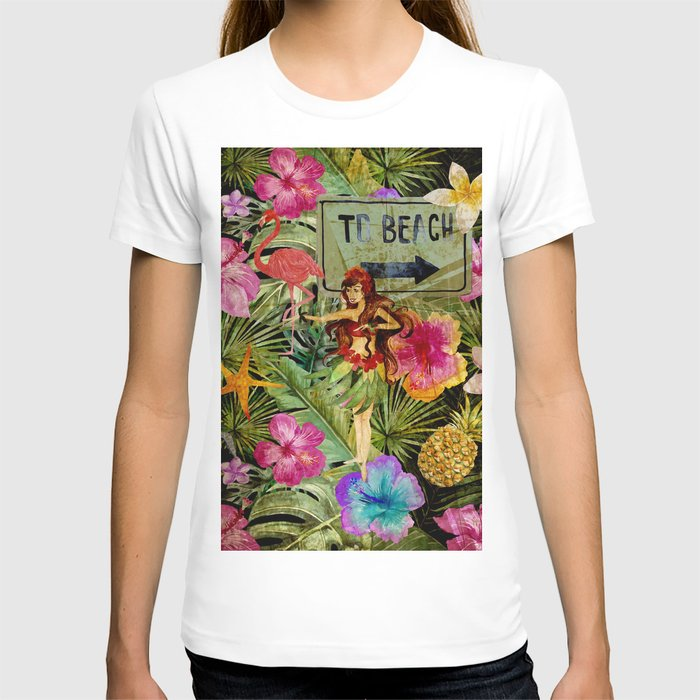 Tropical Vintage Exotic Jungle Beach Party T-shirt