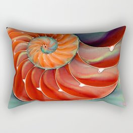 Nautilus Shell - Nature's Perfection by Sharon Cummings Rectangular Pillow