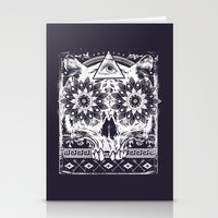 lotus Stationery Cards featuring Lotus by Tshirt-Factory