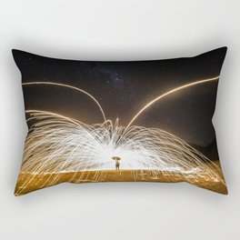fire rain Rectangular Pillow
