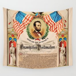 1863 Emancipation Proclamation by President Abraham Lincoln Wall Tapestry