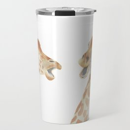 Giraffe Watercolor Travel Mug