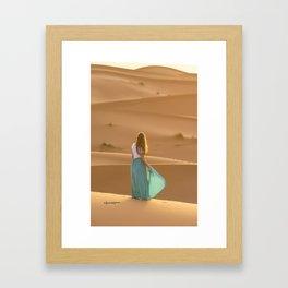 Sahara sunrise Framed Art Print