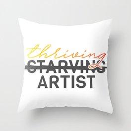 Thriving Artist Throw Pillow