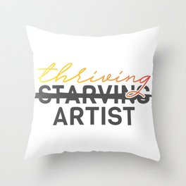 Thriving Artist Throw Pillow