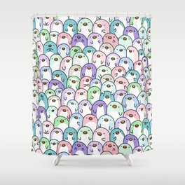 Penguin Snuggles Shower Curtain