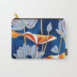 Bold Botanical Carry-All Pouch