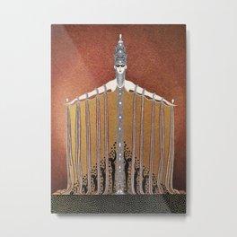 "Design in Art-Deco Style ""Adoration"" Metal Print"