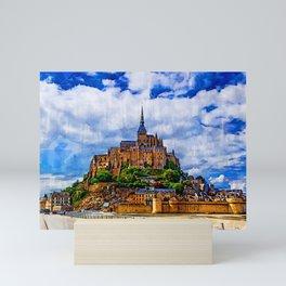 Le Mont Saint Michel, France Mini Art Print