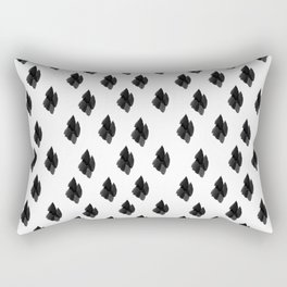 Falling for you black and white pattern Rectangular Pillow