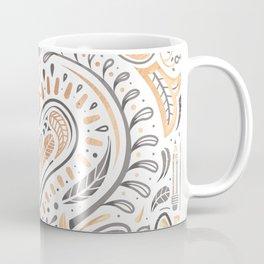 Rose Gold Folklore Pattern Coffee Mug
