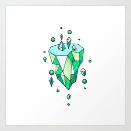 Little Emerald World Art Print