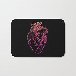 Designer Heart Colors Bath Mat