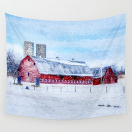A Snowy Day Wall Tapestry