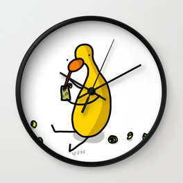 Lemonade Luncheon | Veronica Nagorny Wall Clock