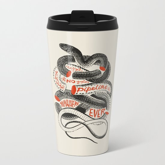 No. Never. Nowhere. Metal Travel Mug