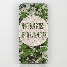 WAGE PEACE iPhone & iPod Skin