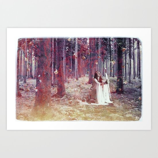 White Witch Art Print