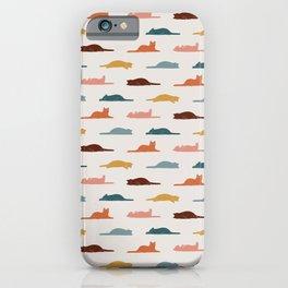 Lazy Cat Pattern iPhone Case