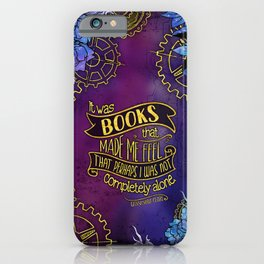 CP - Books Made Me Feel Not Alone (Purple) iPhone Case