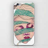 knit iPhone & iPod Skins featuring Knit Head by AW Illustrations