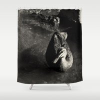 cycle Shower Curtains featuring Cycle by brane