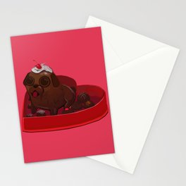 Valentines Day Pug Stationery Cards