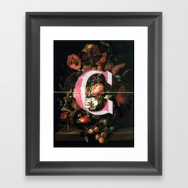 Letter C Framed Art Print