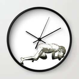 Humble: Figure Drawing Older Man Wall Clock