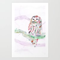 Nature In Technicolor - Owl Art Print