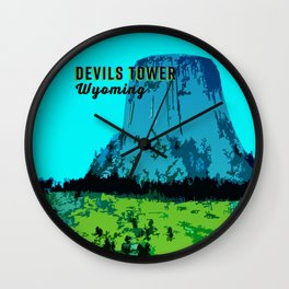 Devils Tower Wyoming Wall Clock