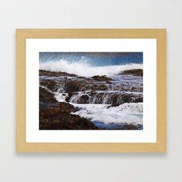 Ocean Surf Framed Art Print